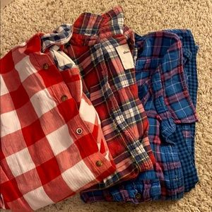 Flannel Shirts - all 3